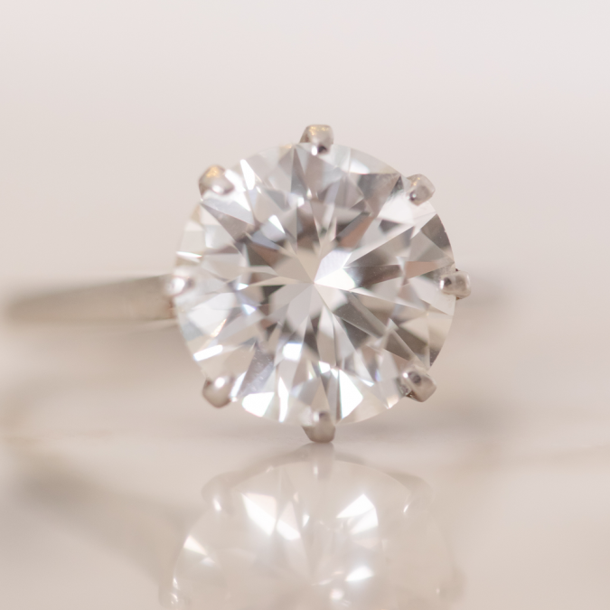 A diamond's purity and sparkle are the symbols of the depth of love